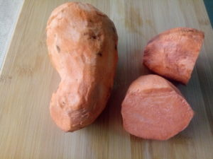 Orange fleshed sweet potatoes